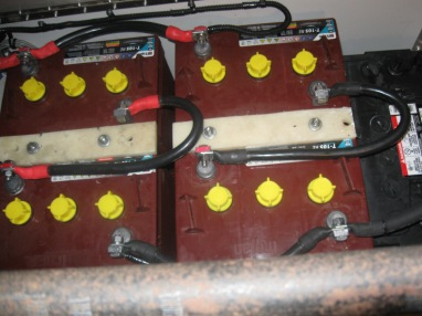 T-105 battery bank installed